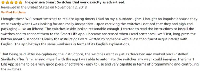 Gosund Smart Switch Amazon review 3