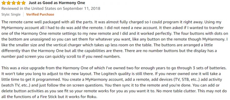 Logitech Harmony 950 Amazon review