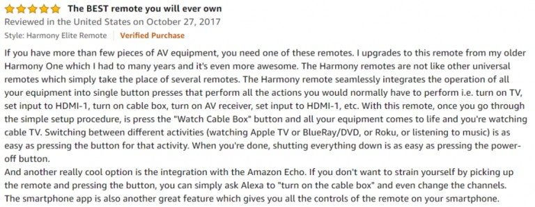 Logitech Harmony Elite Amazon review 3