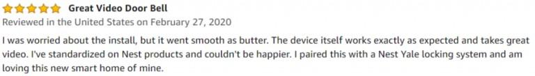 Nest Hello Amazon review