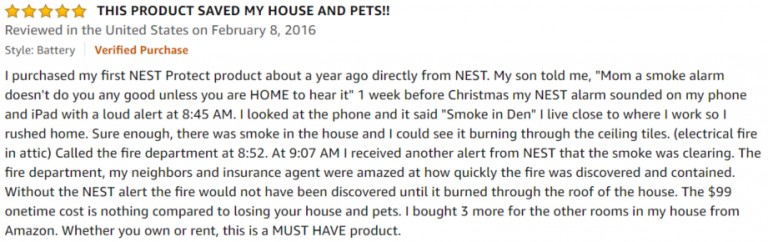 Nest Protect Smoke Carbon Monoxide Alarm Amazon-review