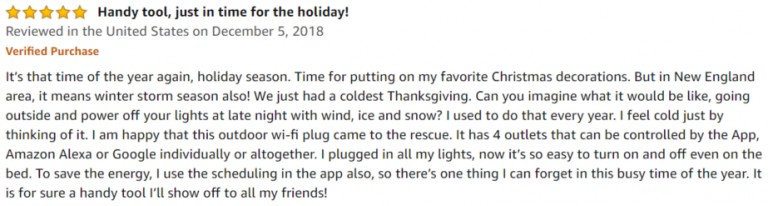 POWRUI Outdoor Smart Plug Amazon review