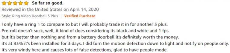Ring Doorbell 3 Amazon review 2