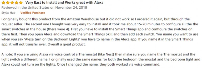 SmartThings Hub 3 Amazon Review 4