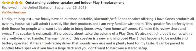 Sonos Move Amazon review