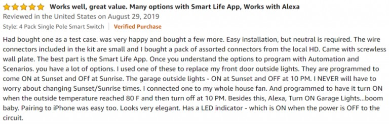 Treatlife Smart Light Switch Amazon review 3