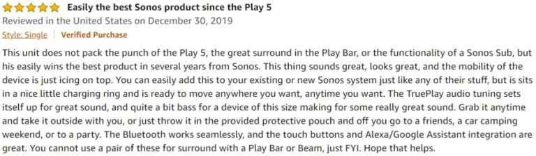 Sonos Move Amazon review 6