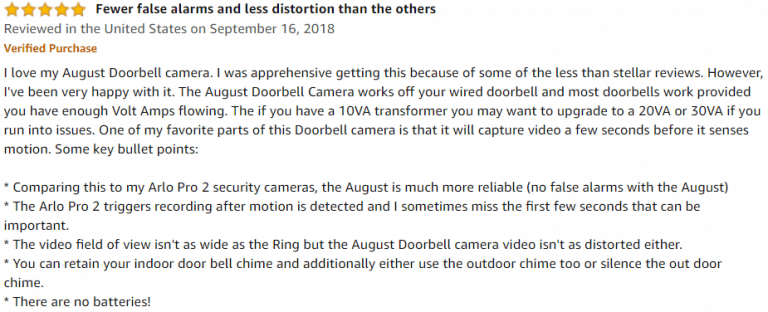 August Home Doorbell Amazon Review 2