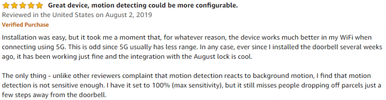August Home Doorbell Amazon Review