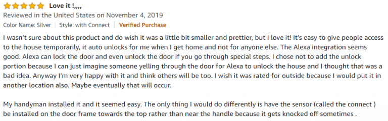 August Smart Lock Pro+ Amazon review 3