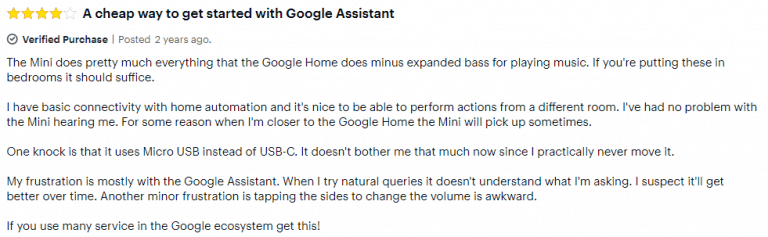 Google Home Mini Best Buy review 3