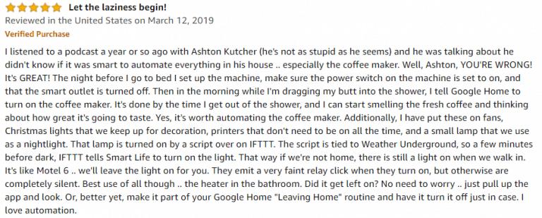 Gosund Mini WiFi Outlet Amazon review 3