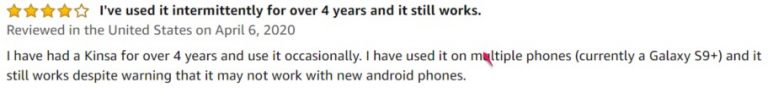 Kinsa Smart Digital Thermometer Amazon review 2