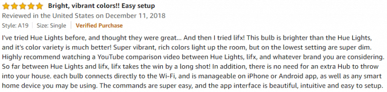 LIFX 1100 Lumen Amazon review 4
