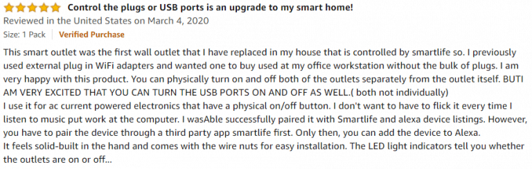 Lumary Smart Wi-Fi In-Wall Outlet Amazon review