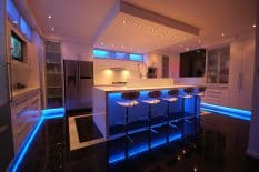 Smart Lighting blue LED strips