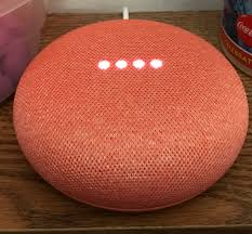 Google voice assistant on a table