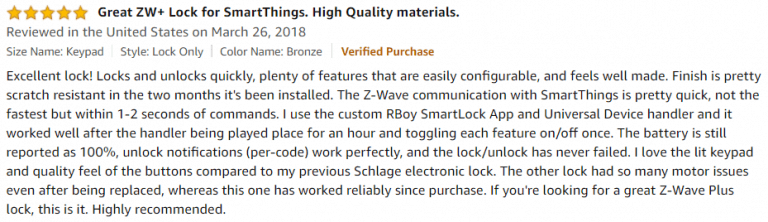 Yale Assure Amazon Review 4
