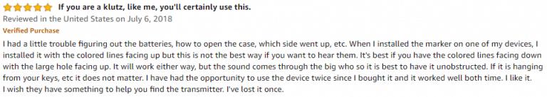 ESKY Key Finder amazon review 3