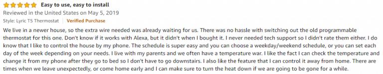 Honeywell T5 Amazon review 9