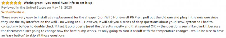 Honeywell T6 Pro Amazon review 3