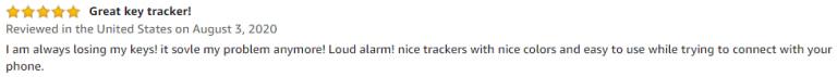 Jackky Key finder Amazon Review 2