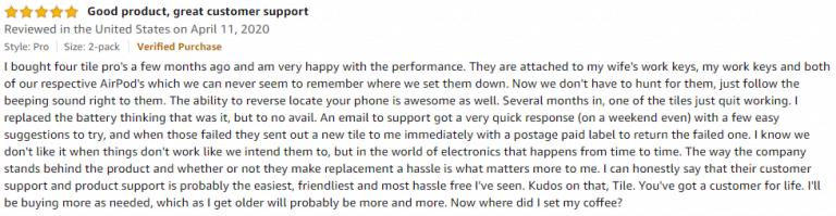 Tile Pro Amazon review 2