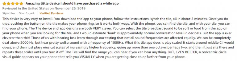 Tile Pro Amazon review