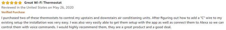 Honeywell Lyric T6 pro Amazon review 2
