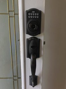 Smart lock on a door