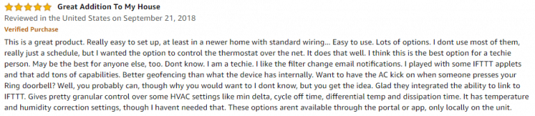 ecobee3 Lite Amazon review 3